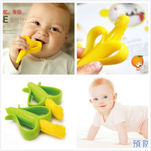 Прорезывания hq безопасные жевать кукурузы прорезыватель банан силикона зубов младенческой зубная