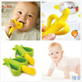 Original HQ Safe Baby Kids Teether Teething Infant Chew Toys Banana Corn Silicone Toothbrush