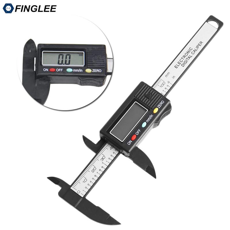6inch 150mm Vernier Digital font b Electronic b font Caliper Ruler Measuring Tools Carbon Fiber Composite