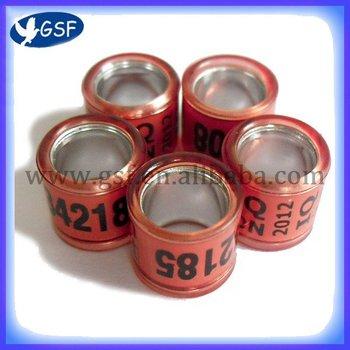 hot seller Aluminium with Plastic Pigeon Ring 8mm