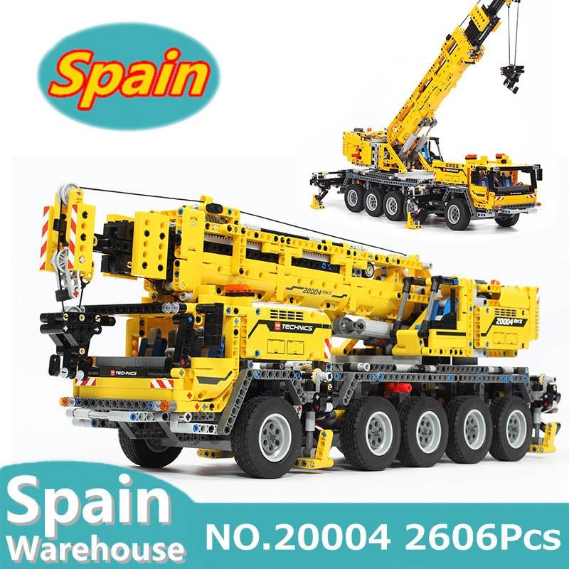 20004 20005 20056 Motor Power Mobile Crane Mk II City Truck Building Blocks Set Technic 42009