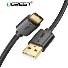 Ugreen USB tipo C Cable para Samsung Galaxy S9 más Nota 9 tipo C carga rápida Cable de datos para Xiaomi redmi5 Oneplus 6 USB-C cable