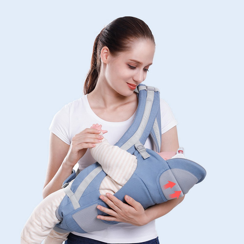 0-48M Ergonomic Baby Carrier Infant Baby Hipseat Carrier Front Facing Baby Wrap Sling For Travel 10