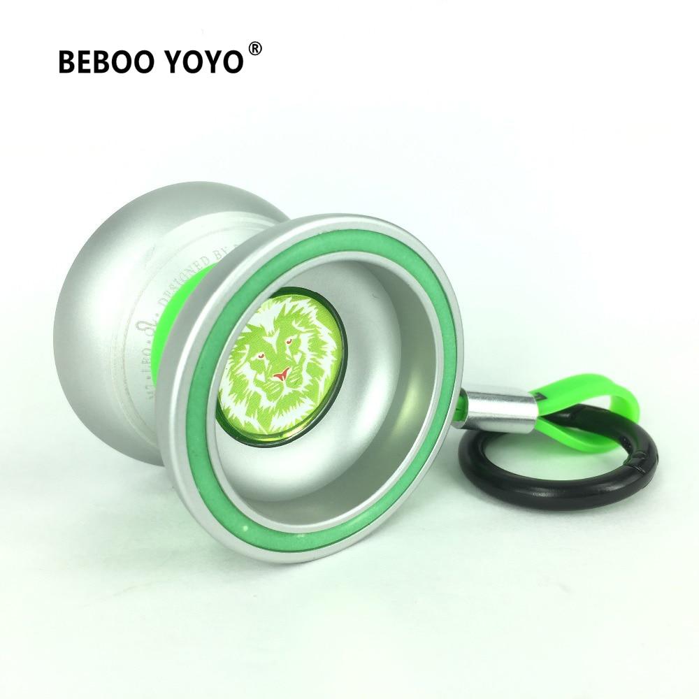 BEBOO M7 Professional YoYo Ball Lion luminous Aluminum Alloy yo yo set Yo-yo + Glove + 3 ropes + Bag Classic Toys Gift 2017 игрушка антистресс aojiate toys finger spinner yo yo rv579