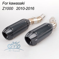 motorcycle exhaust middle pipe Z1000 2010 2016 Z1000 exhaust two sides muffler z1000 link pipe stainless steel