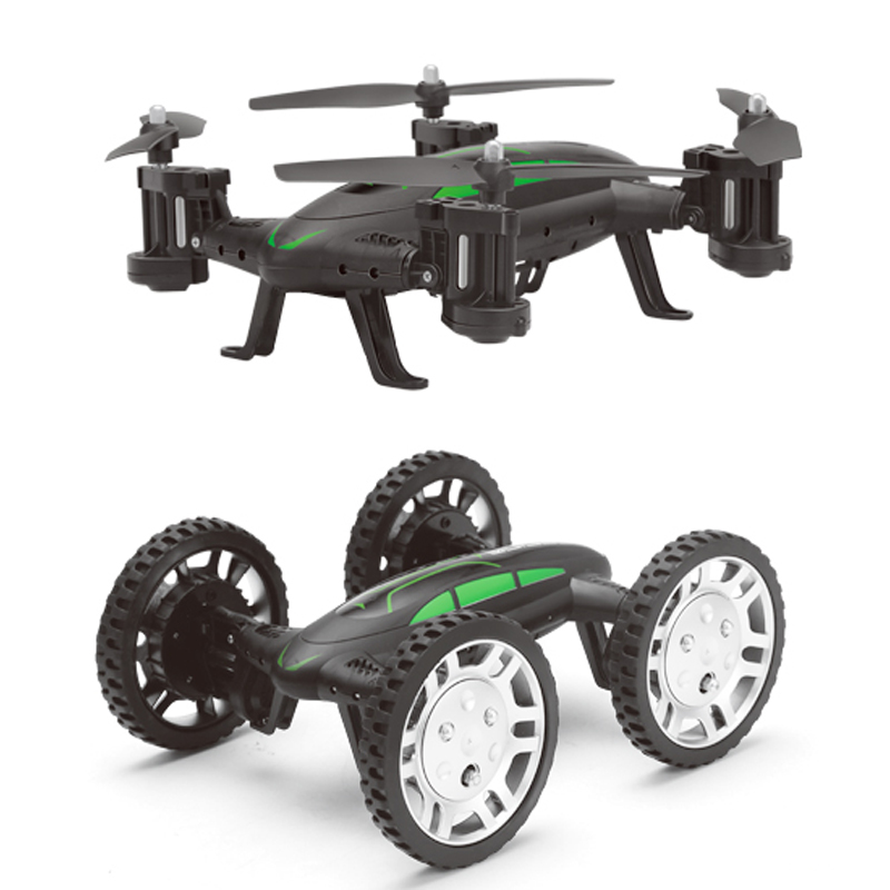 ФОТО New RC Drone with wifi cam 2.4G 2 Model Remote Control Quadcopter 2 in 1 Car Air-Ground Flying Drones dual propose RC car Toys