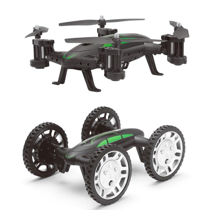Nouvelle RC Drone avec wifi cam 2.4G 2 Modèle Télécommande Quadcopter 2 dans 1 Voiture Air-Sol Vol Drones double proposer des RC voiture Jouets