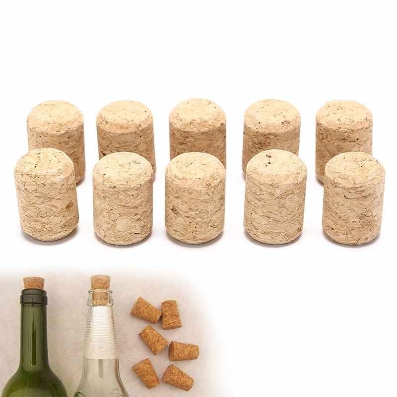 10 ชิ้น/ล็อตไม้ธรรมชาติ Corks ไวน์ไม้ขวดกรวยขวดไวน์ Corks ปลั๊กปิดผนึกหมวกเบียร์ขวด corks