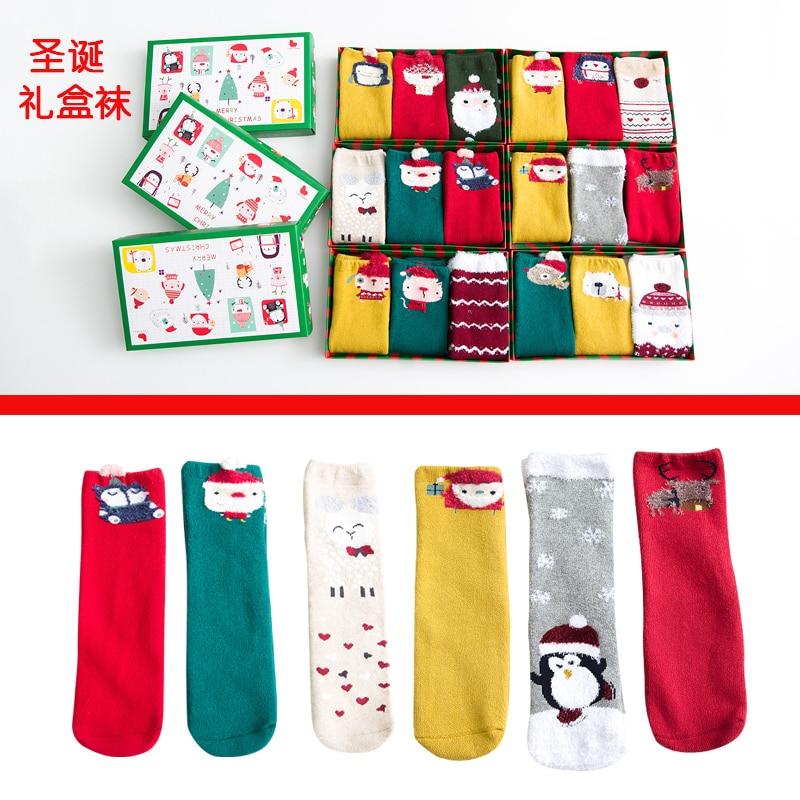 Useful Zale Christmas Stocking Santa Clause Socks Boys Girls Socks Cartoon Print Sports Holiday Winter Fleece Winter Warm Skiing Socks For Improving Blood Circulation