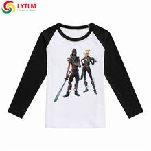 3fc956911 LYTLM Fortnited Enfant Fortnight Print T-shirt Boy Winter 2018 Big Girls  Long Sleeve Tops Roupas Menina Kids Clothing Boys Girls