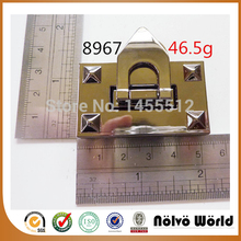 55*30mm famous brand bags light gold turn lock fashion hardware handmade bag accessory trendy locks