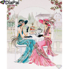 DIAPAI Diamond Painting 5D DIY 100% Full Square/Round Drill Beauty hat flower Embroidery Cross Stitch 3D Decor A24627