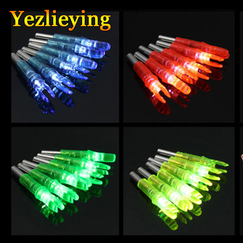 6pcsHunting ID6.2mm LED Lighted Archery Arrow Nock LED Glowing Arrow Nocks Crossbow Compound & Recurve Bow