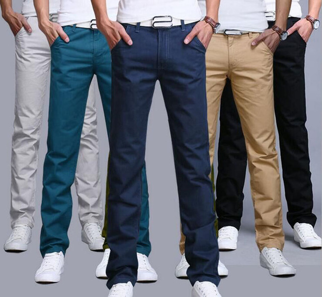 d2ca4dda2e2 2018 New Fashion Mens pants Straight Cargo Pants Chinos Casual Slim Fit  summer skinny Suit Pants business style Trousers JYT01-1