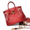 Роскошные крокодил pattern женщины сумочка натуральная кожа женщины сумку известный бренд стиль женщин кожаные сумки из натуральной кожи сумка