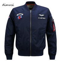 DIMUSI Bomber Jacket Men 2016 Ma 1 Flight Jacket Pilot Air Force Male Ma1 Army Green