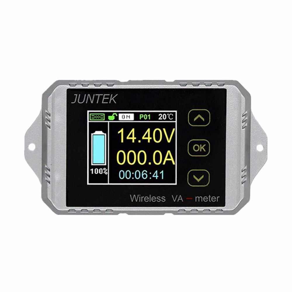 JUNTEK DC 120V 200A беспроводной аккумулятор кулометр емкость Напряжение Ток измеритель