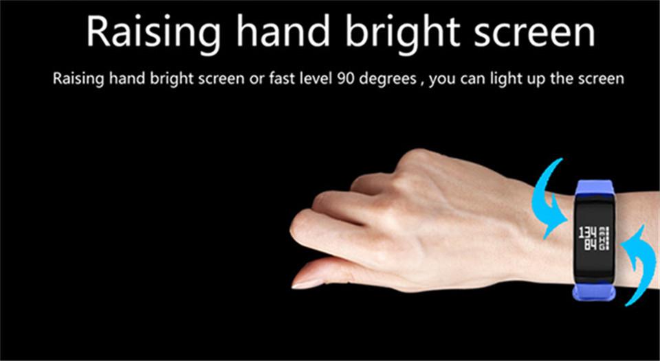 LETIKE Blood Pressure Smart Bracelet Sport Pedometer Fitness Tracker Wrist Smartband Pulse Measure Waterproof For IOS Android 10