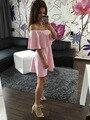 Vestido de verano 2016 Nuevo Estilo De Europa Del Vestido Lindo Caliente sólido Volantes Cuello Slash Manga de La Mariposa Vestidos Vestido Ajustado Plus tamaño
