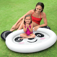 Inflatable Swimming Pool Party game Kids Infant Indoor Large Plastic Water Sports Pool For Children Babies Kiddie Panda White