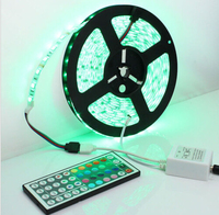White PCB LED Strip 5050 SMD RGB waterproof IP65 300led Changeable LED Strip String set with 44 keys IR Remote Controller
