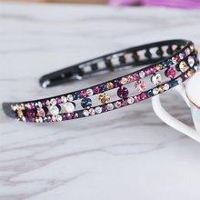Fancyin Hair Accessories Luxury Colorful Hair Crystal bands Rhinestone Headbands For Women Hair Jewelry
