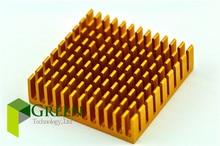 10pcs 40mm 4cm 40*40*11MM Aluminum Heatsink Chip Graphics card Cooling Cooler North and south bridge Heat Sink(China (Mainland))