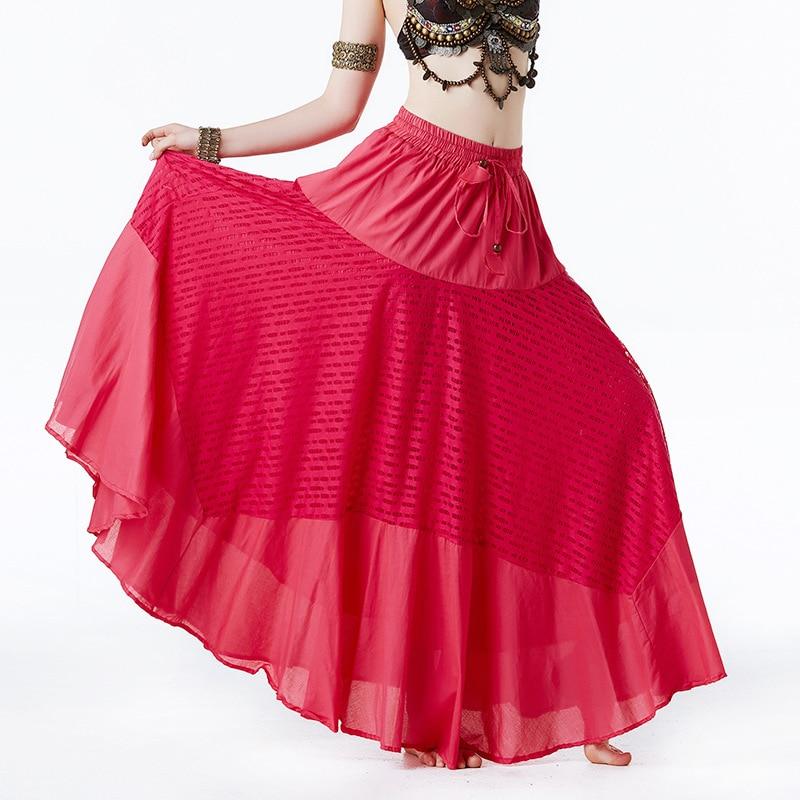 Gypsy Flowery Long Skirt Belly Dance Costumes full circle dance dress dancewear