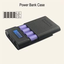 4×18650 DIY ЖК-дисплей батарея банк портативный батарея в виде ракушки Box Дело DIY KIT цифровой Powerbank батарея хранения Чехол