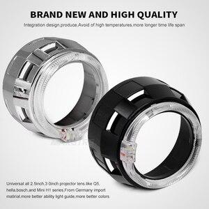 Image 3 - 2x3.0 Pro LED Lensler araba farı bi xenon Hid Projektör Lens CCFL LED Melek Gözler Halo DRL Far araba Güçlendirme Aksesuarları