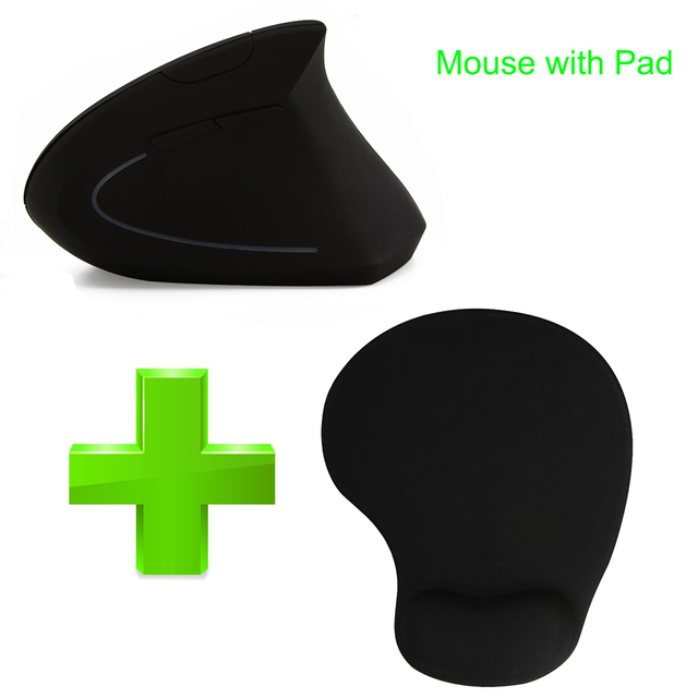 CHYI Wireless Gaming Mouse Ergonomic Vertical Mouse 800/1200/1600DPI Computer 5D Optical Mice Mause with Mouse Pad For PC Laptop