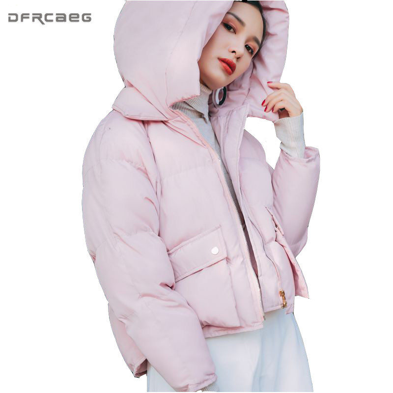 New Arrival Cotton Padded Winter Jacket Women 2017 Fashion Parka Overcoat Long Sleeve Short Hoodied Coat Casual Loose Outerwear цены онлайн