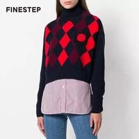 Женский люксовый бренд свитер дамы Для женщин короткий свитер Топ Высокое качество Аргайл свитер Для женщин