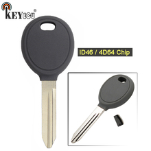 KEYECU 1x/2x ID46/4D64 Чип транспондер ключ зажигания Брелок пустой для Chrysler PT Cruiser, для Dodge Neon, для Jeep Cherokee