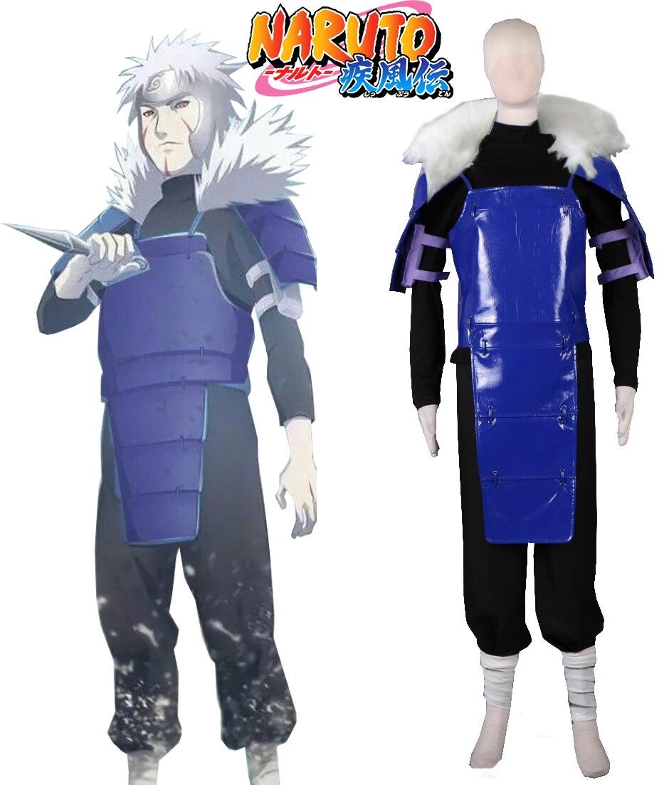 Naruto Shippuden 2nd Hokage Senju Tobirama Costume de Cosplay de combat
