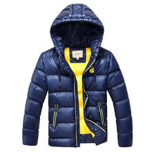 2017 New Children's Winter Jackets Boys Down Coat Thick Warm Hooded Big Boys Parkas Coat Kids Outerwear Jackets PT391