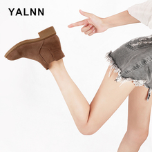 YALNN Shoes Women Ladies Boots Ankle Female Winter Sexy Casual Plus Size