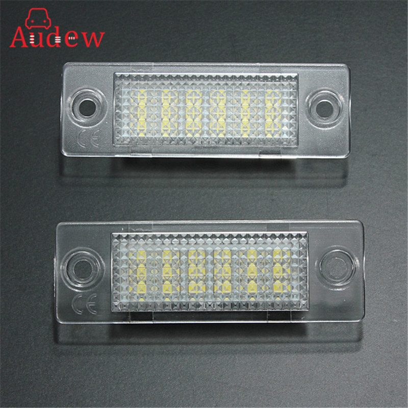 Brand New 2x License Number Plate Light Lamp 18-LED For VW/Caddy/Transporter/Passat/Golf/Touran/Jetta For Skoda No Error smaart v 7 new license