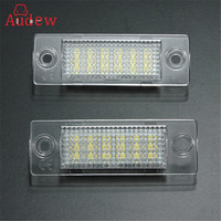 Brand New 2x License Number Plate Light Lamp 18 LED For VW Caddy Transporter Passat Golf