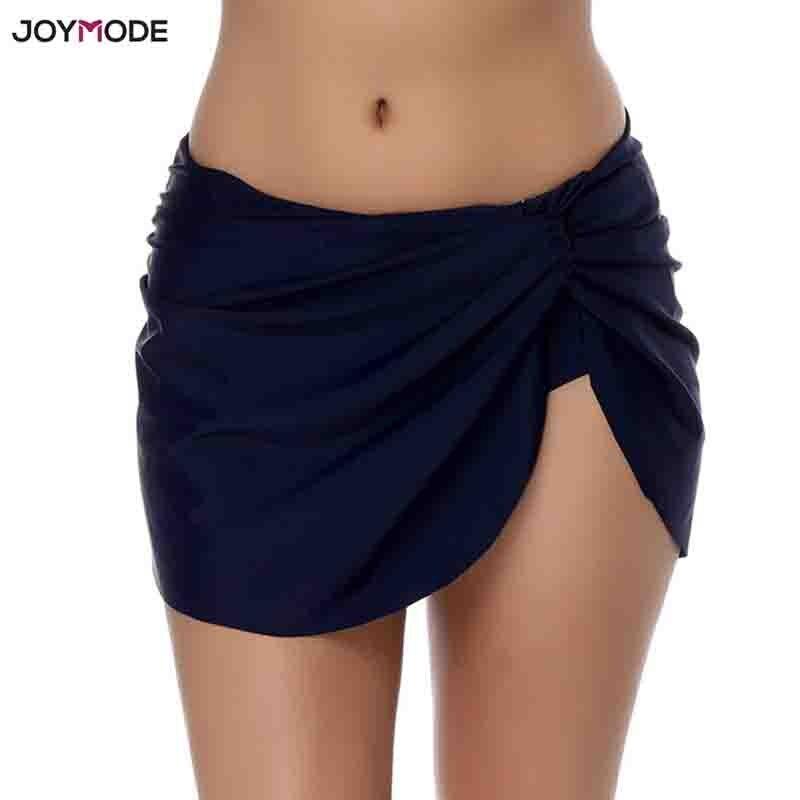 JOYMODE 1PC Solid Bikini Briefs Beach Skirt Short Swim wear Women BathingSuit Maillot De Bain Femme Summer Bottoms