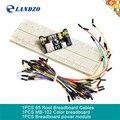 Módulo De potência Placa de Ensaio MB102 tábua de pão + MB-102 830 pontos kit placa Solderless Prototype Pão + 65 fios jumper Flexíveis