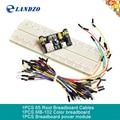 Mb102 Protoboard + MB-102 830 puntos del Prototipo de Solderless Pan kit junta 65 cables de puente Flexibles