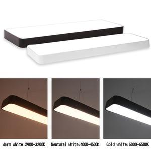 Image 4 - LED מודרני תקרת אור מנורת dimmable משטח הר פנל מלבן מתקן תאורת חדר שינה סלון משרד אור 110V 220V