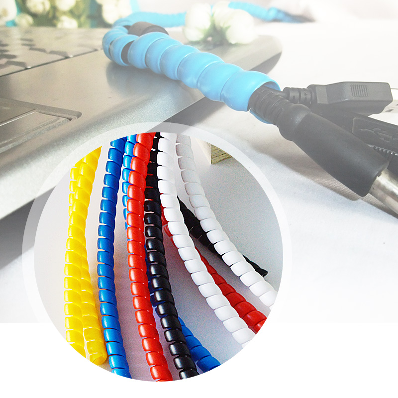 8mm cable sleeve wind pipe Colorful cable wire protect case computer cable store manage device pipe