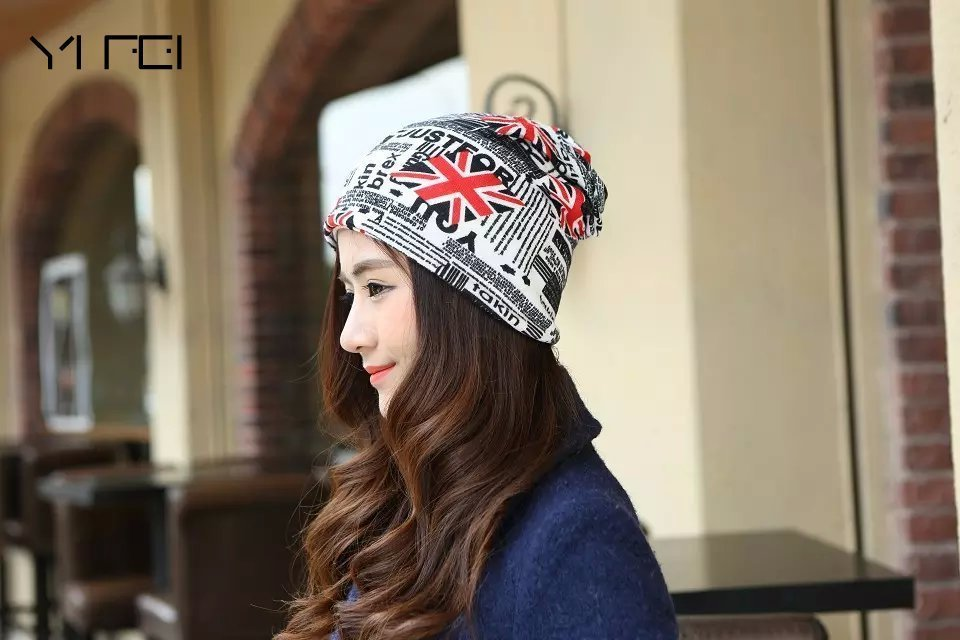 Spring Letter Hip Hop Hats Touc Women's Hats Adjustable Size Beanie Girls Skullies Winter Hats For Female Autumn Thin Hat
