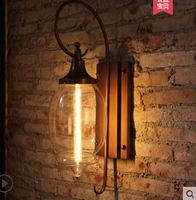 American creative outdoor wall lamp retro villa outdoor garden light waterproof glass aisle balcony lamps