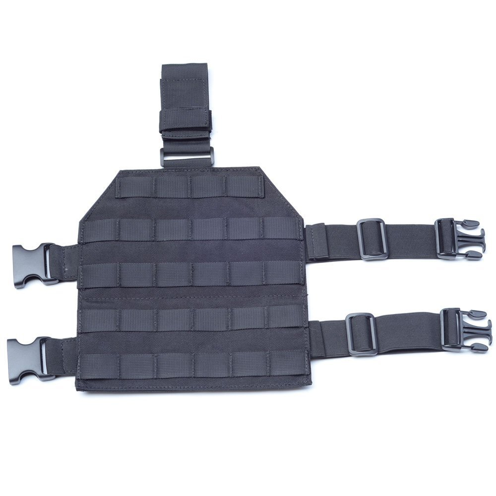 MOLLE Tactical Drop Leg Platform for Paintball Airsoft Pistol Holster Platform with Quick Release Buckle