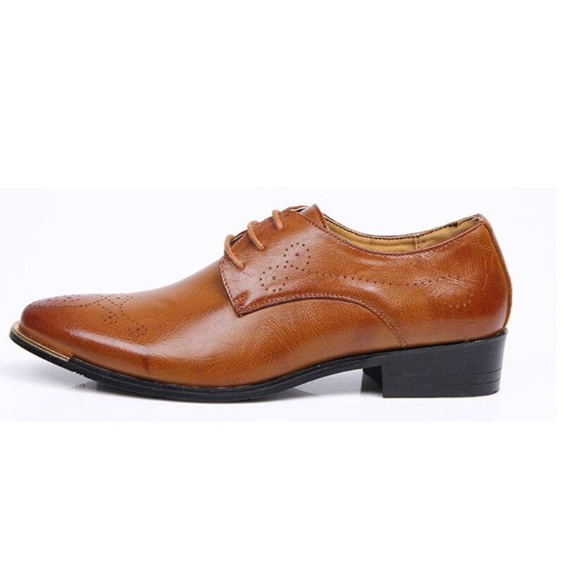 new product ab666 5686c Hommes Élégant Designer En Social Cuir D été Robe Msw8118111 Chaussures  Black brown 0HnqdBxA