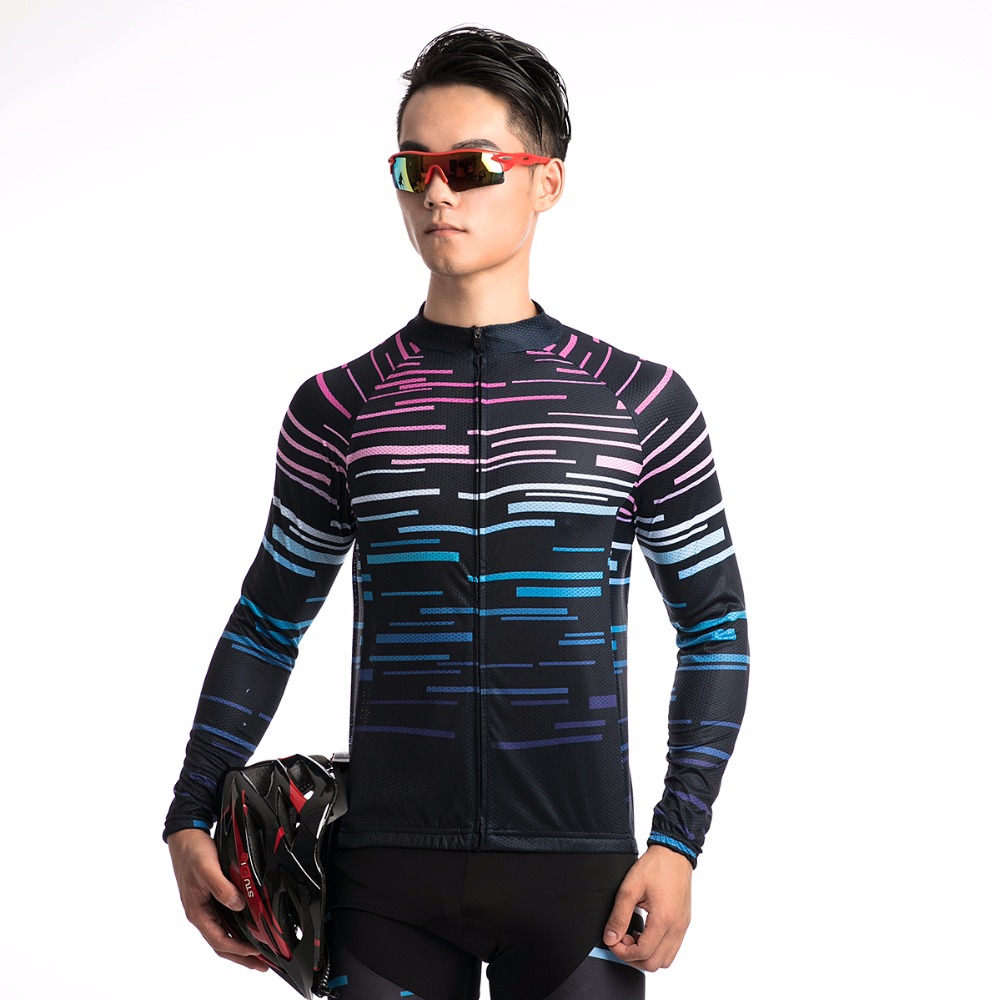 Fualrny 2018 Long Sleeve Autumn Pro Cycling T Shirts MTB Bike Clothing Breathable Bicycle Clothing Maillot Cycling Sportswear