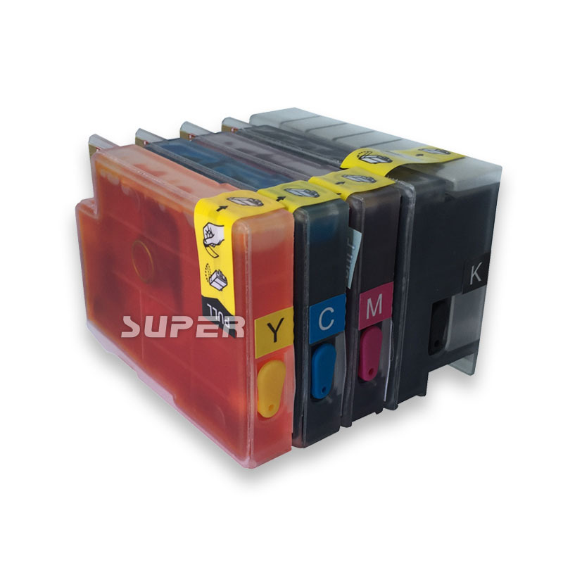 Cheap Ink cartridges for HP printer T120 T520 with full ink and ARC chips on high quality short 121 ink cartridges empty for brother mfc j870dw j650dw j470dw printer with arc chips on high quality